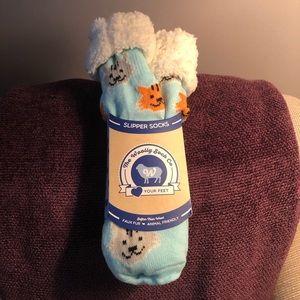 The Woolly Sock Co. Cat Pattern Cabin Socks